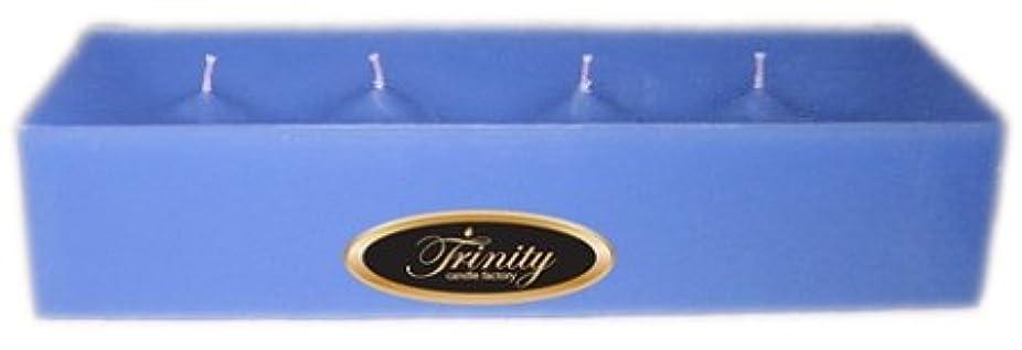 チャレンジアリ美容師Trinity Candle工場 – ベビーパウダー – ブルー – Pillar Candle – 12 x 4 x 2 – ログ