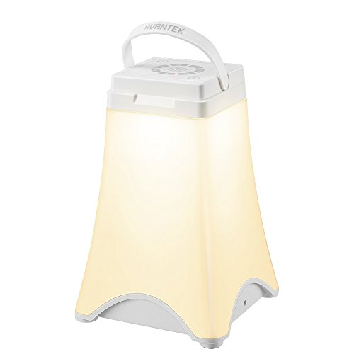 AVANTEK LED ベッドサイドランプ 4段階調光 7色変換 タッチセンサー USB充電 取っ手付き 停電対策 ADL-09