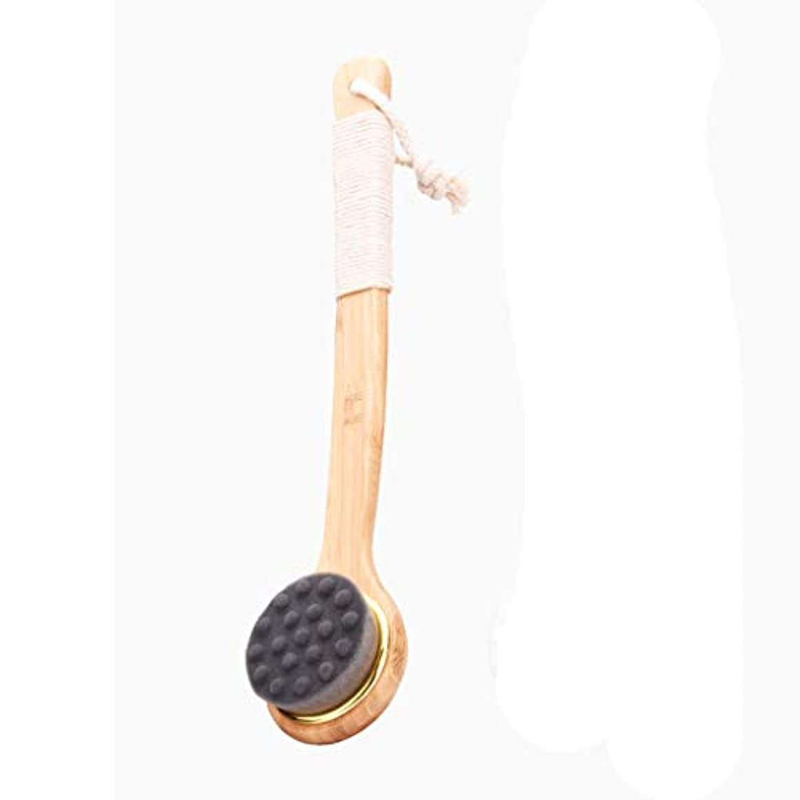 熱狂的なにもかかわらずお手入れシャワーをもっと楽しくするすべてのタイプのスキンのための上げられたポイントを持つ長い柄のバスブラシ (色 : A)