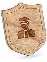 Security Officerラペルピン、木製ピンとタイタック|素朴な、ミニマルGroomsmenギフト、ウェディングアクセサリー