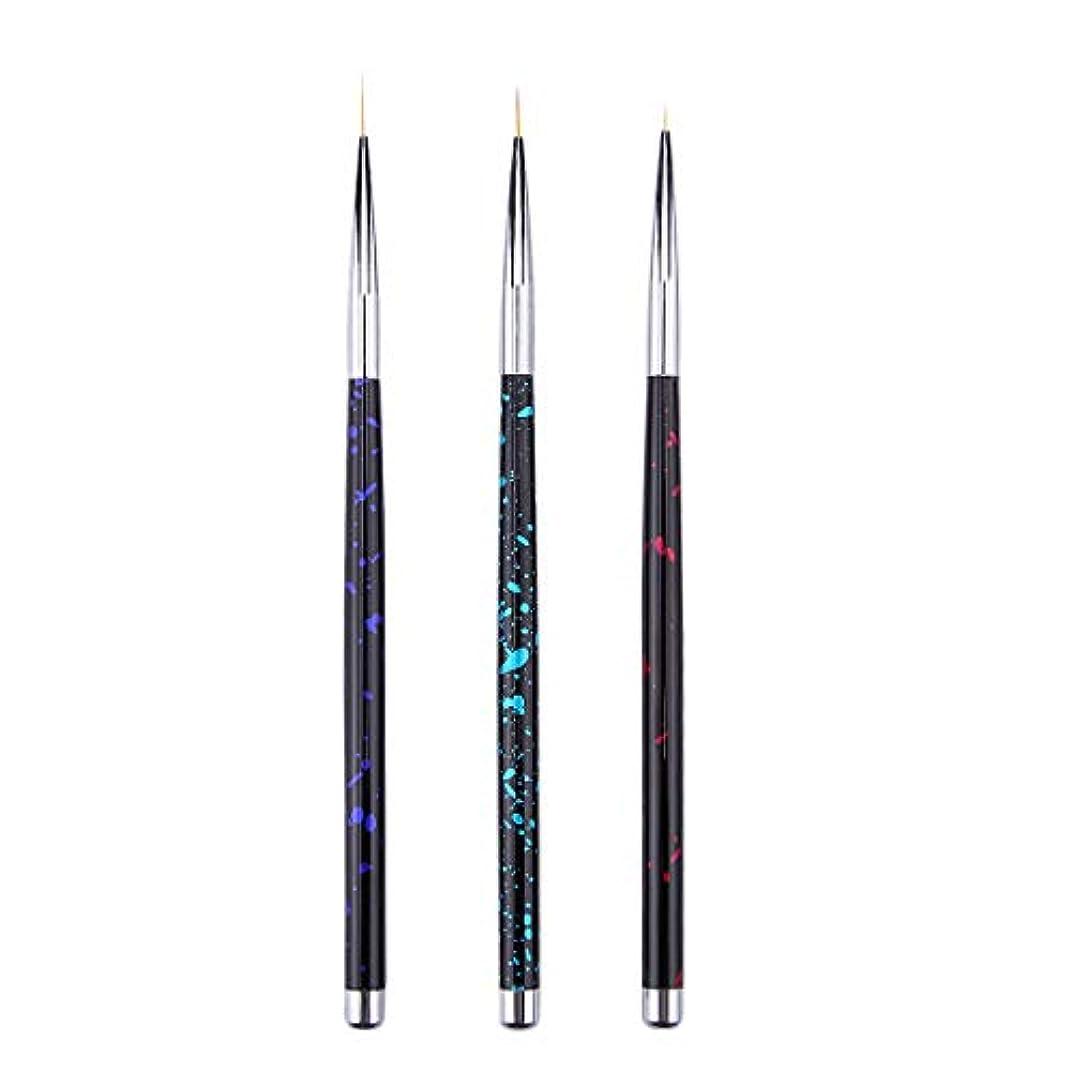 指導する失われた次へTOOGOO 3個 ネイルアートライナーブラシ タッセルフックラインペン マイクロブラシセット 花を描くペン プルペン ネイルアートアクセサリー