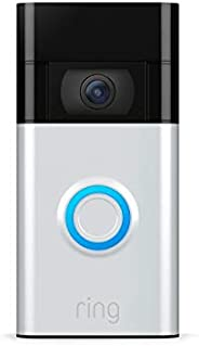 Ring Video Doorbell – 1080p HD video, improved motion detection, easy installation – Satin Nickel (2020 releas