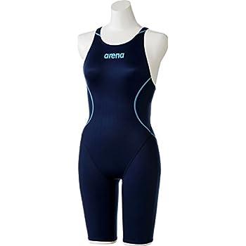 6915dad96937c5 arena(アリーナ) 競泳用 水着 レディース ハーフスパッツ X-パイソン2 FINA承認 クロスバック ARN-7020W NVY(ネイビー)  Oサイズ