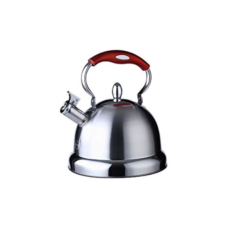保全トン残酷なCHUJIAN やかん、304ステンレス鋼口笛を吹くやかん、3 L / 5 L大容量電磁調理器ガスガスユニバーサル、シルバー 長寿命のためのステンレス鋼 (Capacity : 5L, Color : Silver)