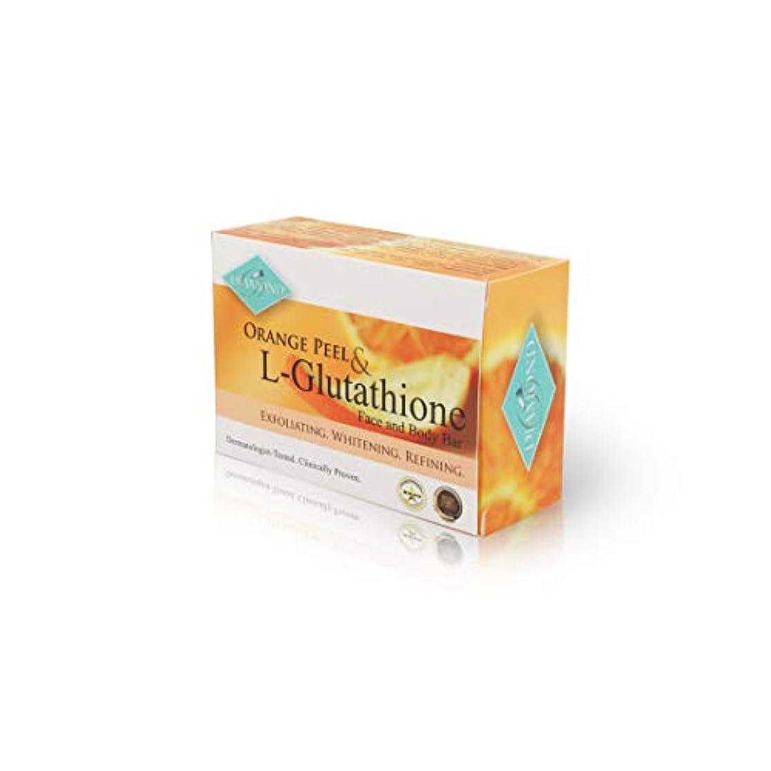 ケージ添付何もないDIAMOND ORANGE PEEL&Glutathione soap/オレンジピール&グルタチオン配合ソープ(美容石けん) 150g 正規輸入品