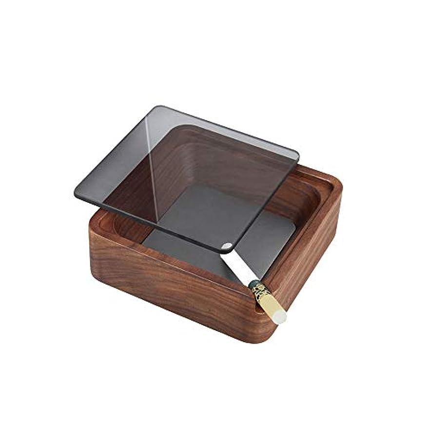 ハンディキャップ暴君挑むふた付きクリエイティブ屋外木製灰皿