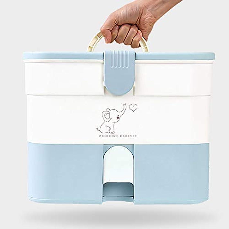 不当謝罪金銭的なBXU-BG 応急処置ボックス家庭用ファーストエイドキットロック可能な医療キャビネット、プラスチック製医療用収納ボックス主催のホーム、旅行職場家庭用品応急処置ボックス、ナースオフィス(色:ブルー) (Color : Blue)