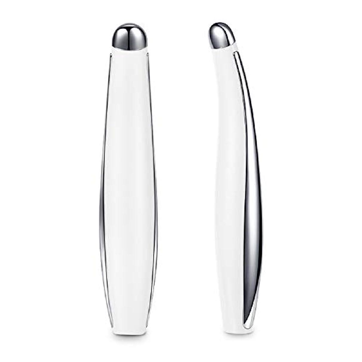 スピーチ依存する露出度の高いRuzzy 超軽量ファッションインテリジェント振動アイプロテクター、高度なソニックアイマッサージャー 購入へようこそ (Color : White)
