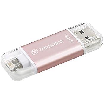 Transcend iPhone対応 USBメモリ(iPhone iPad iPod/Win Mac PC兼用:Apple MFi認証取得)64GB ローズゴールド iPhone X対応 2年保証 TS64GJDG300R