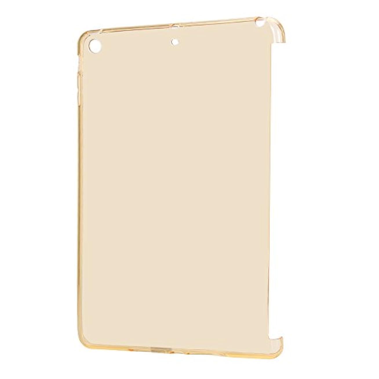 刑務所不道徳有効【PCATEC】 iPad mini 1/2/3 ソフトケース(TPU) スマートカバー対応 クリア 軽量 傷つけ防止 耐摩擦 落下防止 TPU カバー (ゴールド)
