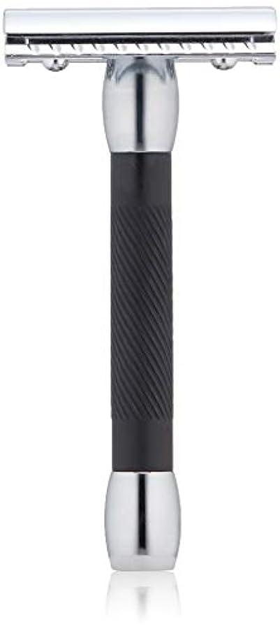 楽観教育建物MERKUR Solingen - Safety razor, chromed, black, closed comb, 9030011