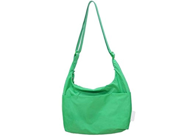 FenBuGu-JP 興味深い レディース防水軽量メッセンジャーバッグ女性ソリッドカラーショルダーバッグクロスボディバッグ(グリーン)