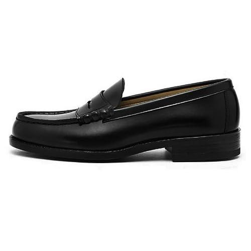 [ハルタ] HARUTA メンズ トラディショナル ローファー 通学 学生 学校 靴 6550 3E 幅広 ブラック 25.0cm