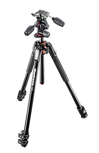 Manfrotto プロ三脚 190シリーズ アルミ 3段 + RC2付3Way雲台キット MK190XPRO3-3W