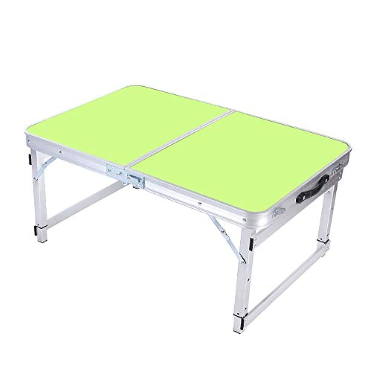 ワックス下向きゆりZR 高密度木製の折りたたみ式テーブル、屋外の携帯用アルミ合金のキャンプのテーブル、多機能調節可能な高低のピクニック用のテーブル (色 : 黄)