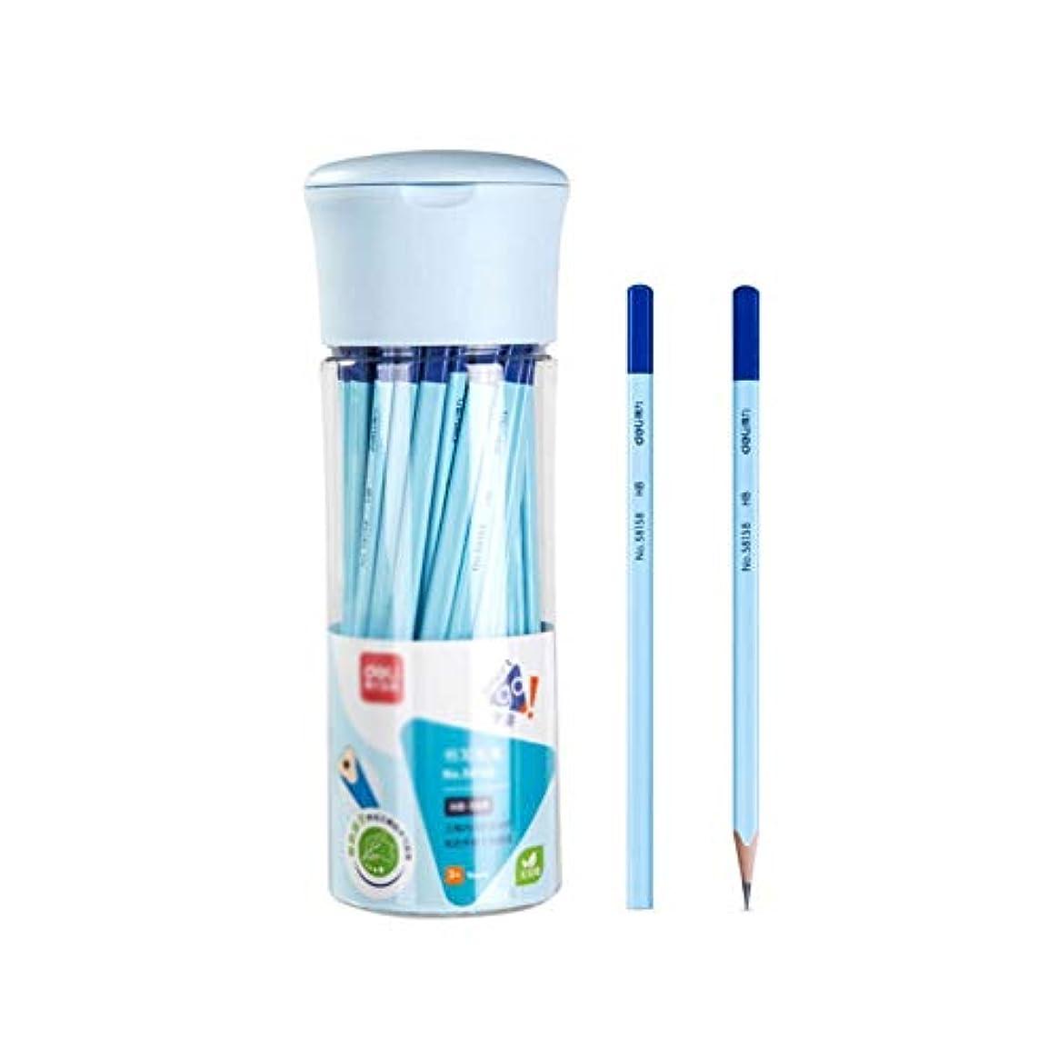 管理する対抗おじいちゃんFengshangshanghang001 ペイントブラシ、グリップ、快適な三角形、凹型鉛筆、修正グリップ、50バレルの木製スケッチペイントブラシ(50パック、7 * 24cm) ペンの位置をガイドする (Color : Blue, Size : 7*24cm)