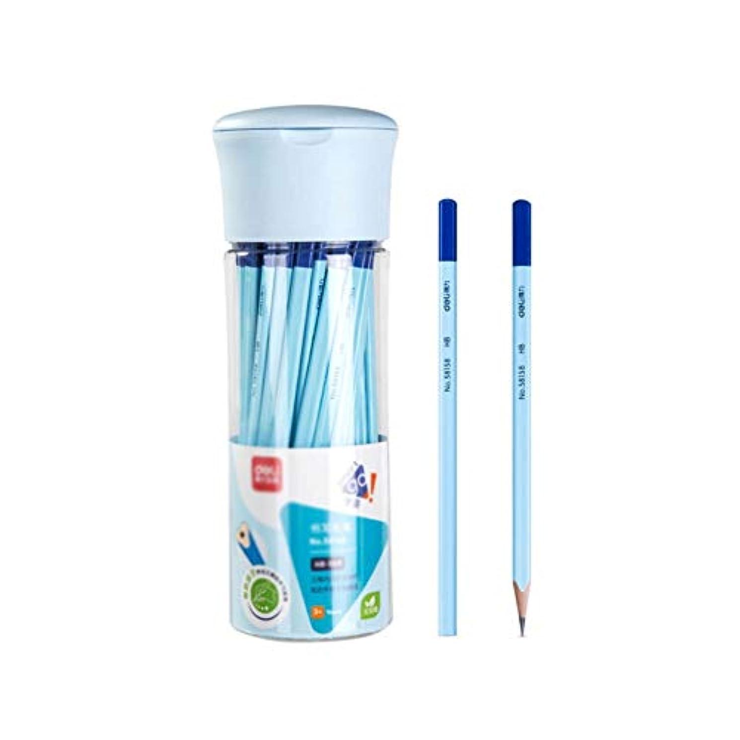 架空の管理しますセージBoyuanweiye001 ペイントブラシ、グリップ、快適な三角形、凹型鉛筆、修正グリップ、50バレルの木製スケッチペイントブラシ(50パック、7 * 24cm) 持ち運びが簡単 (Color : Blue, Size : 7*24cm)