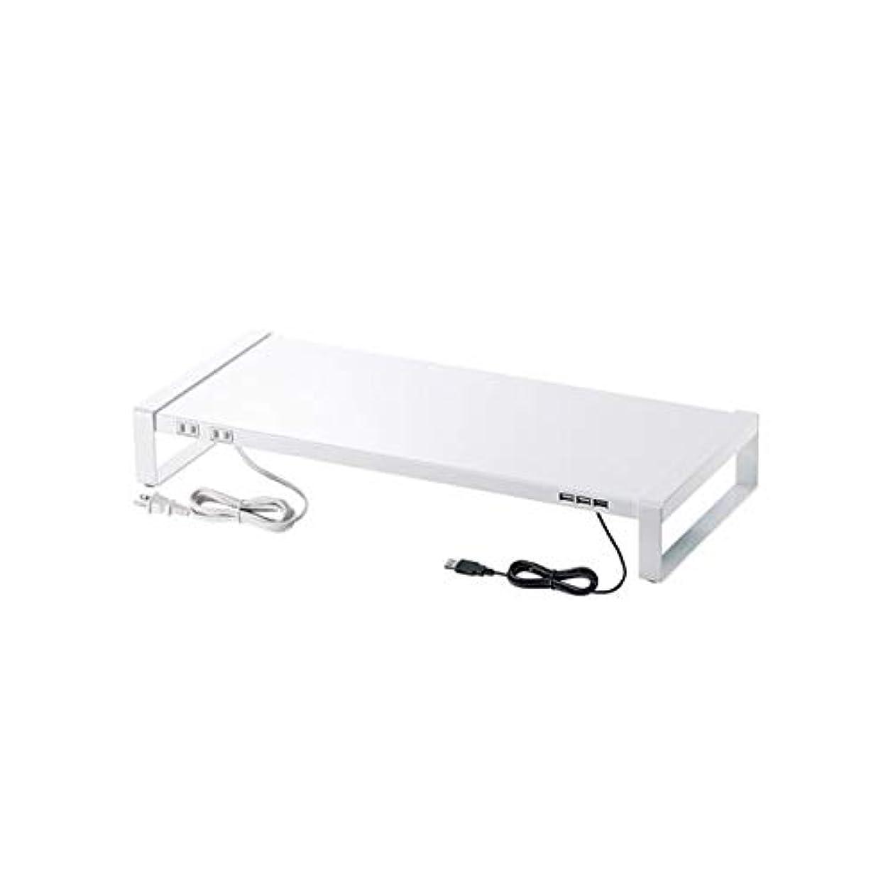 戻る美しい革命サンワサプライ 電源タップ+USBハブ付き机上ラック(W600) MR-LC205W ds-2103295
