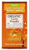 Just Natural Herbs Org Curry Powder 30 g (order 6 for trade outer) / ただ天然ハーブカレー粉組織30グラム(商品アウター用6順)