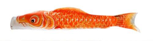最高級鯉のぼり 響 単品 黄 0.8m 口金具付 ジャガードポリエステル使用 金箔ぼかし撥水加工