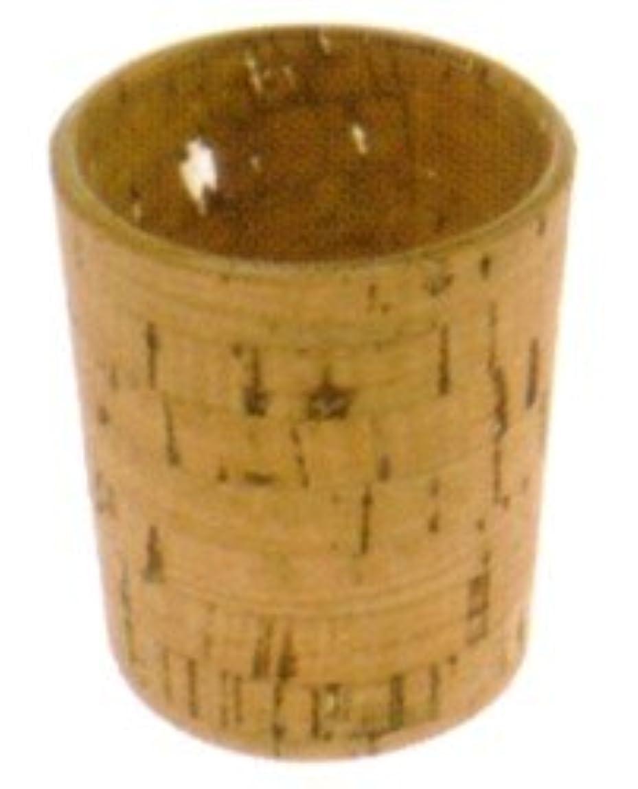 問題捧げるファンドキャンドルホルダー ナチュラルウッド cork