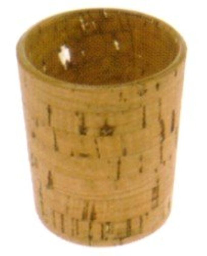 白いフランクワースリー聴覚障害者キャンドルホルダー ナチュラルウッド cork