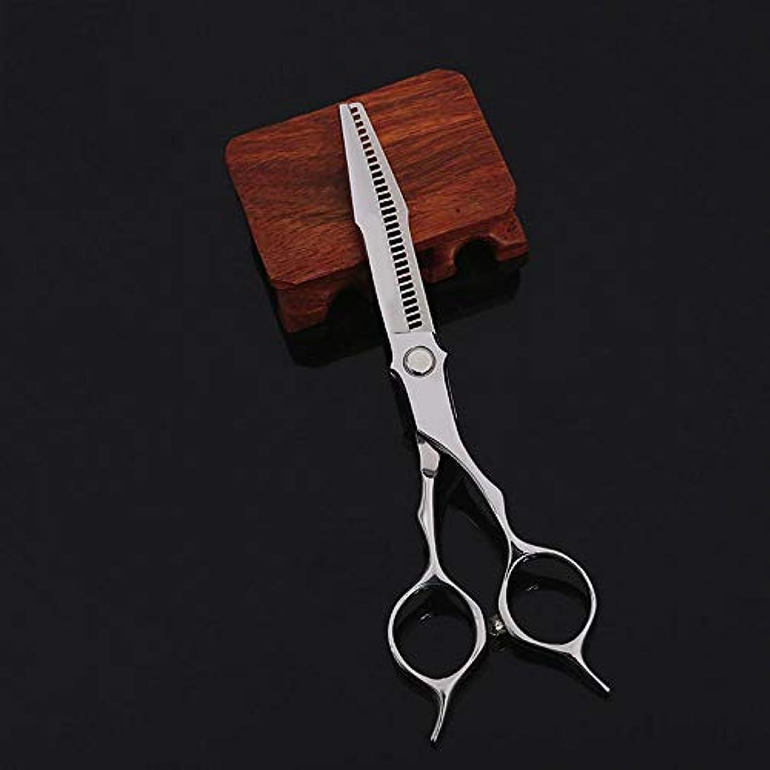 ペット放送八百屋WASAIO 美容専門の理髪はさみヘアカットのはさみステンレス理容設定間伐テクスチャーサロンでもシザー6インチ (色 : Silver)