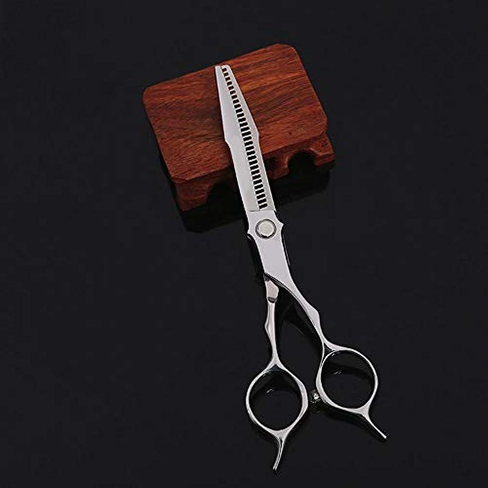 まだら猛烈な戦略6インチプロフェッショナル美容院理髪はさみ ヘアケア (色 : Silver)