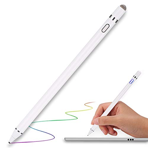 タッチペン MPIO スマートフォン タブレット スタイラスペン iPad iPhone Android対応 極細 高感度 USB充電式 銅製1.5mmペン先 軽量 タッチペン 細/太両側使る