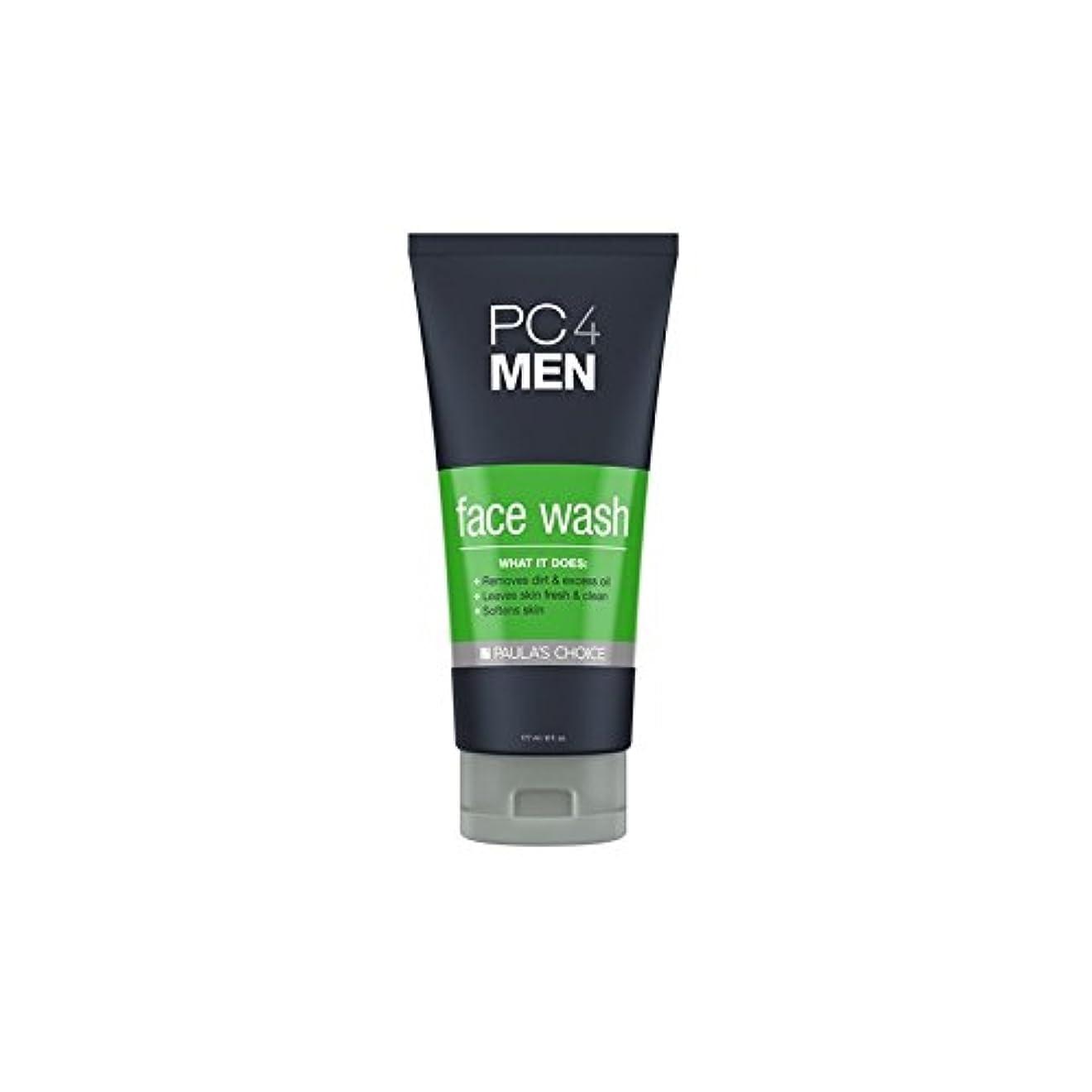 落ち着いた連邦玉ねぎPaula's Choice Pc4Men Face Wash (177ml) (Pack of 6) - ポーラチョイス4の洗顔料(177ミリリットル) x6 [並行輸入品]
