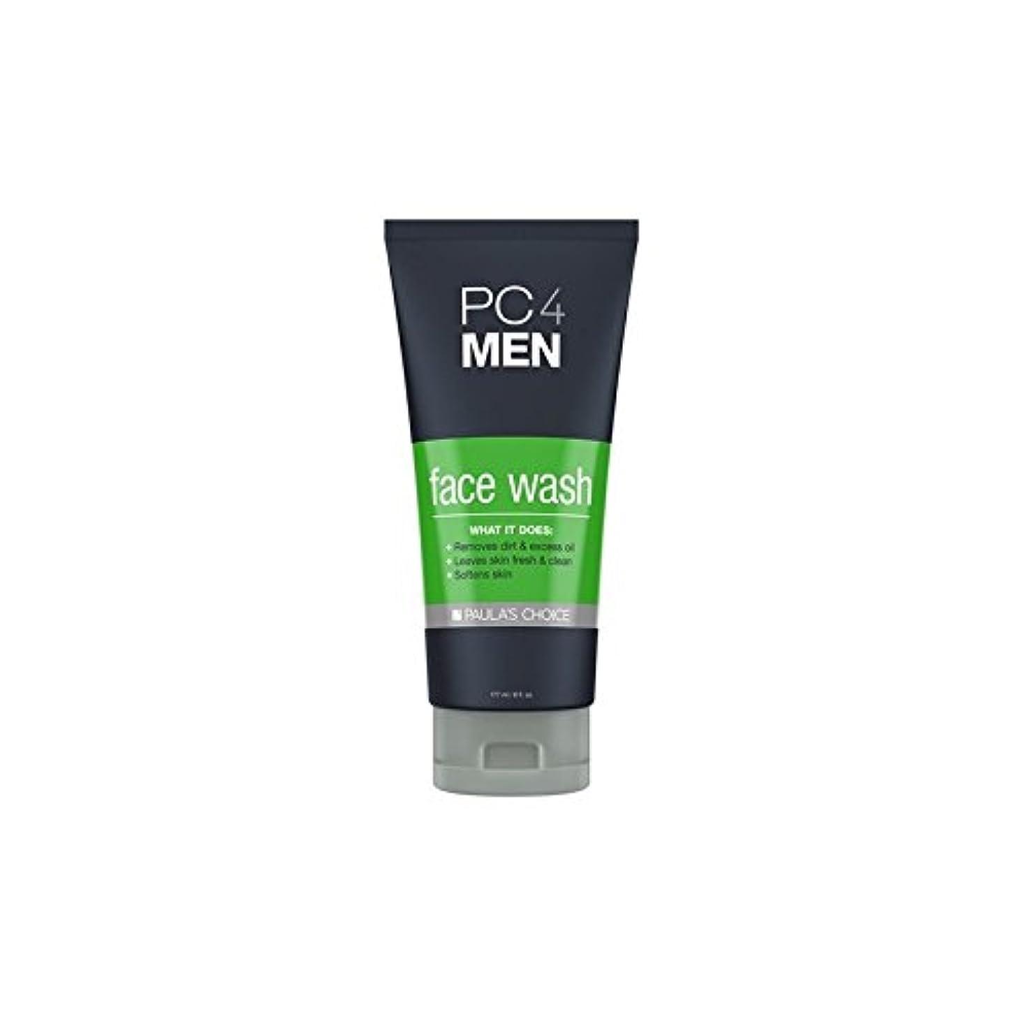 黒板豆腐脱臼するポーラチョイス4の洗顔料(177ミリリットル) x4 - Paula's Choice Pc4Men Face Wash (177ml) (Pack of 4) [並行輸入品]