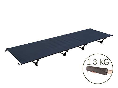 アウトドア ベッド、DESERT WALKER 折りたたみ式ベッド キャンピングベッド, 軽量1.3KG、耐荷重:200KG 収納袋付き、3色入り(グリーン、ブルー、グレー) (黒)