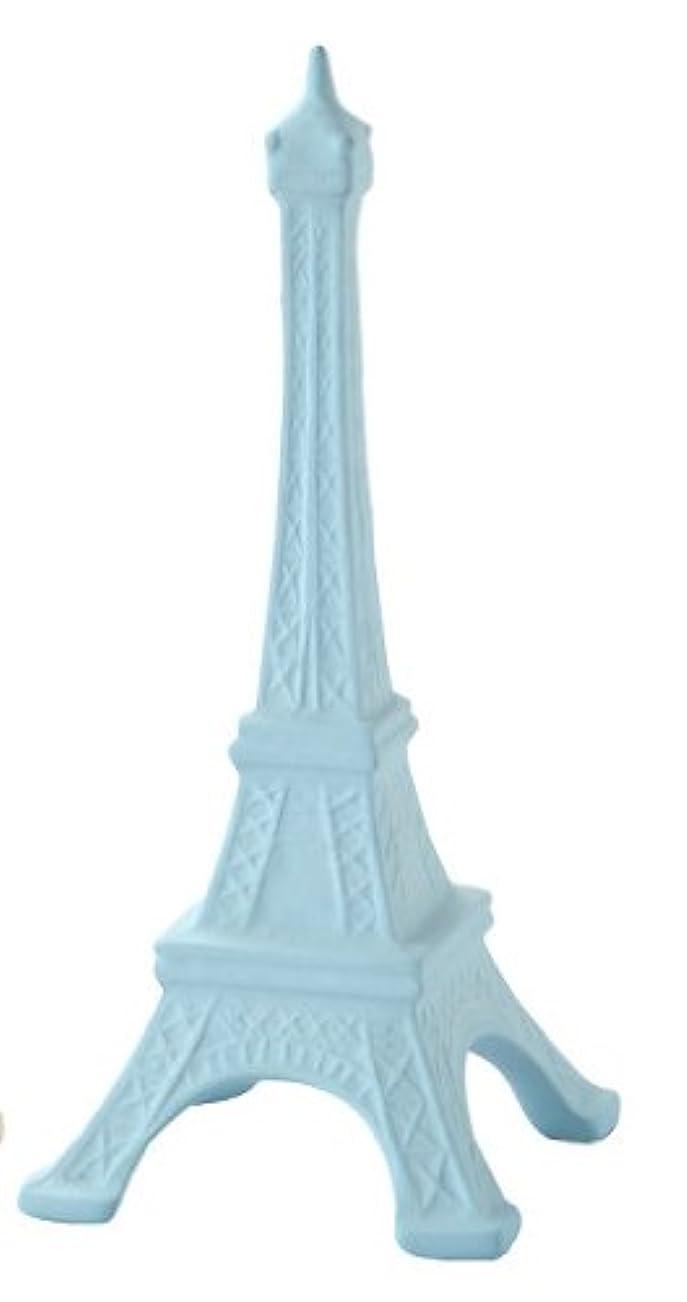 通信する上向き戸棚見谷陶器 セラミックス吸水 アロマディフューザーエッフェル塔 ライトブルー MT5-008LB