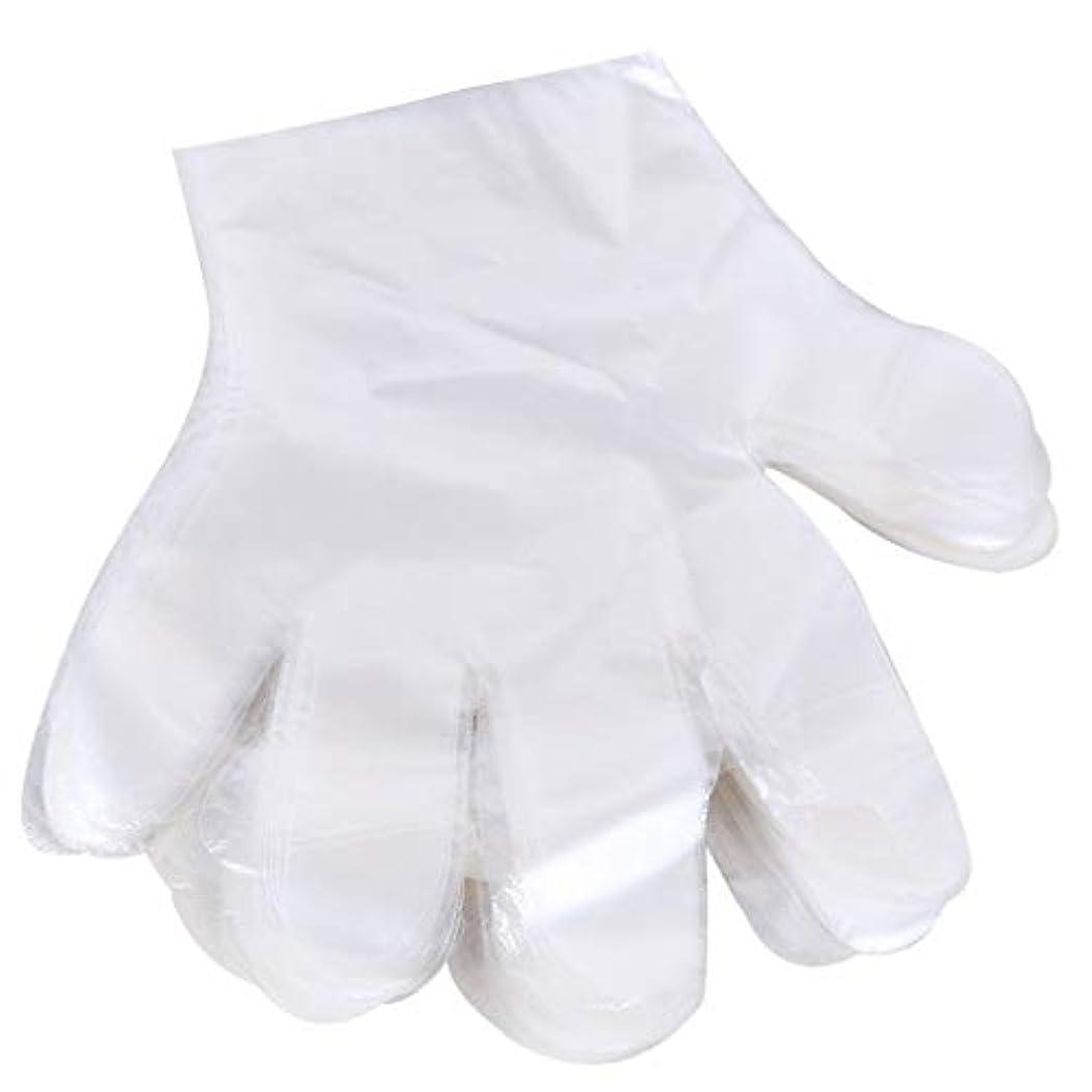 静かにむき出しよろめく1000 使い捨て手袋、ケータリングヘアマスク食品ロブスター厚い透明プラスチックpeフィルム手袋透明カバー YANW