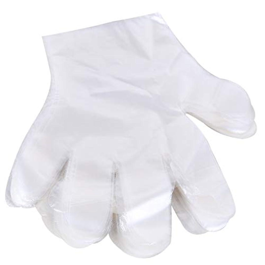 追い出す推進力法律により1000 使い捨て手袋、ケータリングヘアマスク食品ロブスター厚い透明プラスチックpeフィルム手袋透明カバー YANW