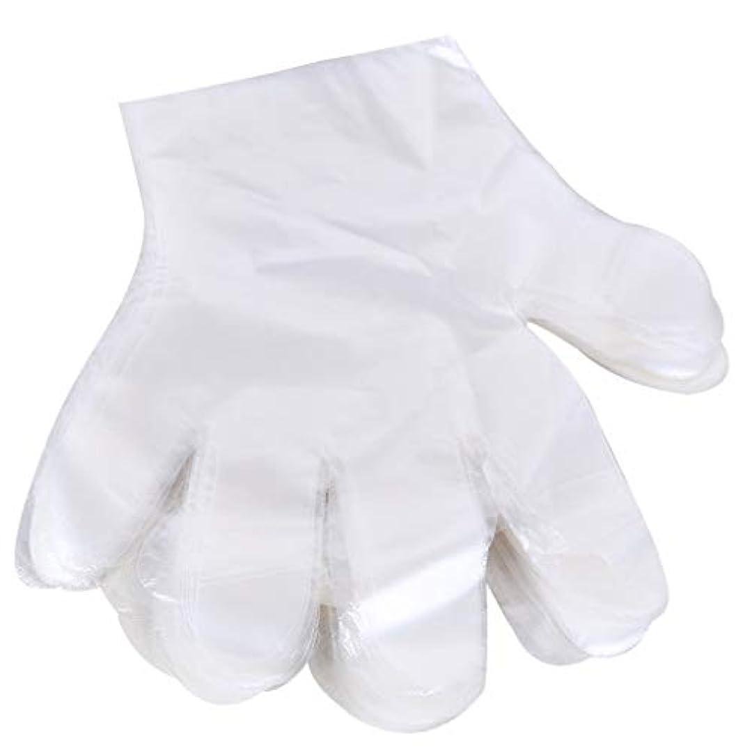 基礎理論プレートフリース1000 使い捨て手袋、ケータリングヘアマスク食品ロブスター厚い透明プラスチックpeフィルム手袋透明カバー YANW