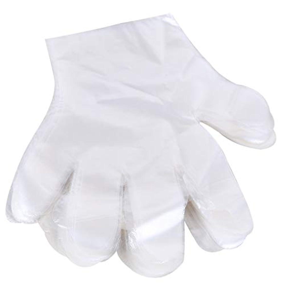 苦悩少しちらつき1000 使い捨て手袋、ケータリングヘアマスク食品ロブスター厚い透明プラスチックpeフィルム手袋透明カバー YANW