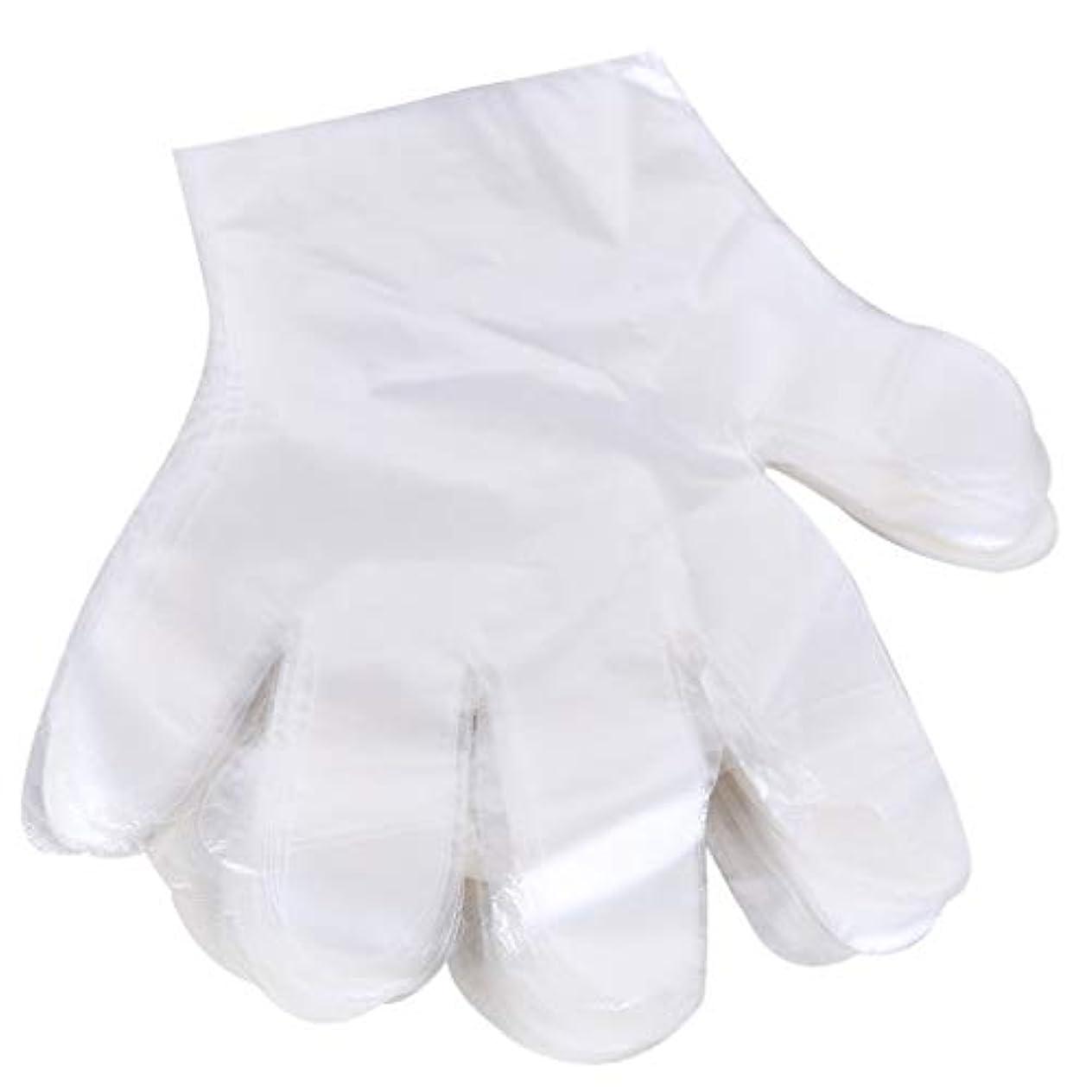 生じる倍増悪意のある1000 使い捨て手袋、ケータリングヘアマスク食品ロブスター厚い透明プラスチックpeフィルム手袋透明カバー YANW