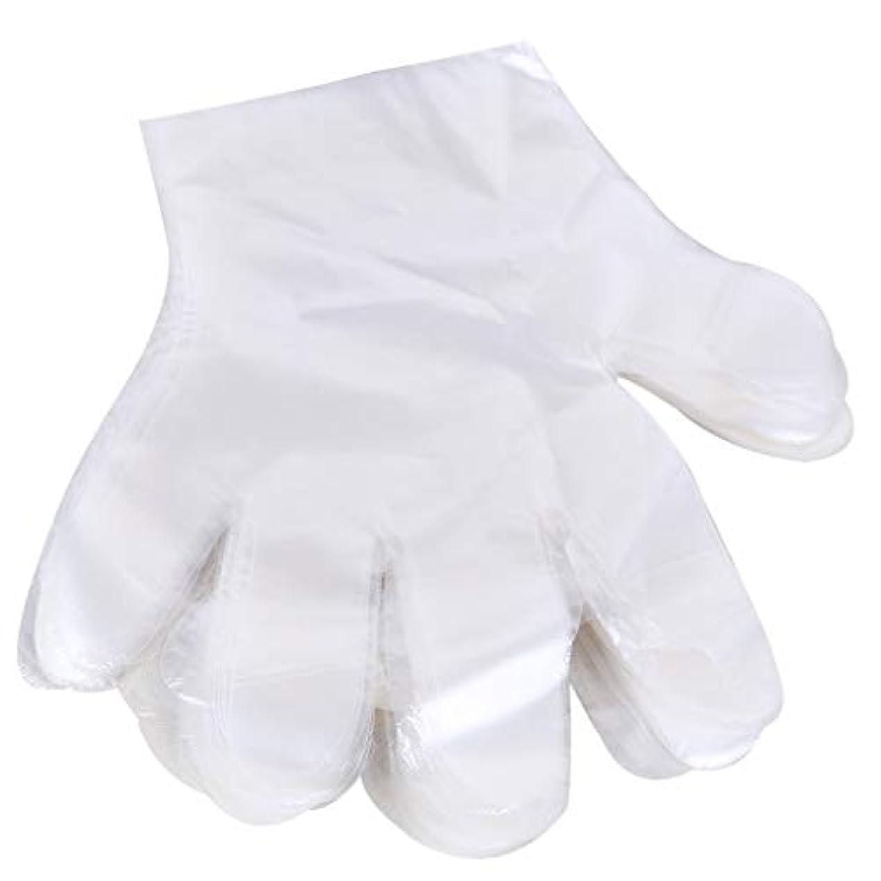 軍団きつく仕様1000 使い捨て手袋、ケータリングヘアマスク食品ロブスター厚い透明プラスチックpeフィルム手袋透明カバー YANW
