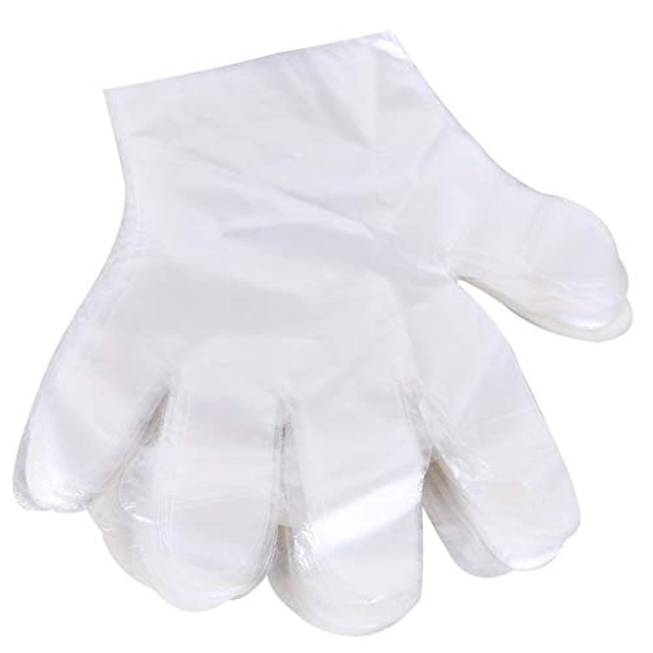 手段独特の生き物1000 使い捨て手袋、ケータリングヘアマスク食品ロブスター厚い透明プラスチックpeフィルム手袋透明カバー YANW