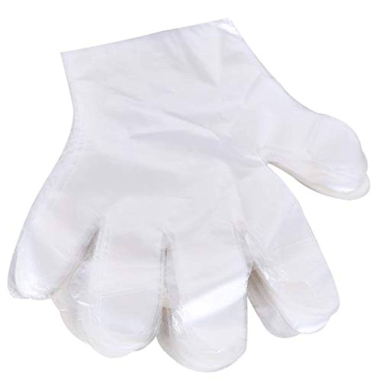 市区町村倉庫経験的1000 使い捨て手袋、ケータリングヘアマスク食品ロブスター厚い透明プラスチックpeフィルム手袋透明カバー YANW