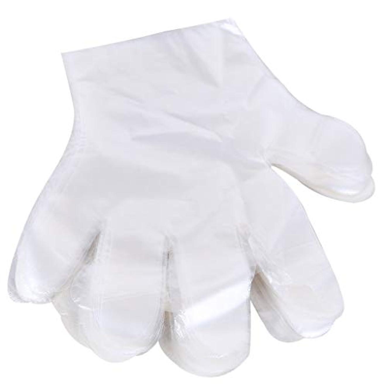 普及衝突コース習字1000 使い捨て手袋、ケータリングヘアマスク食品ロブスター厚い透明プラスチックpeフィルム手袋透明カバー YANW