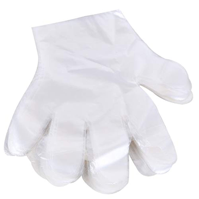フルート優しさ所有者1000 使い捨て手袋、ケータリングヘアマスク食品ロブスター厚い透明プラスチックpeフィルム手袋透明カバー YANW