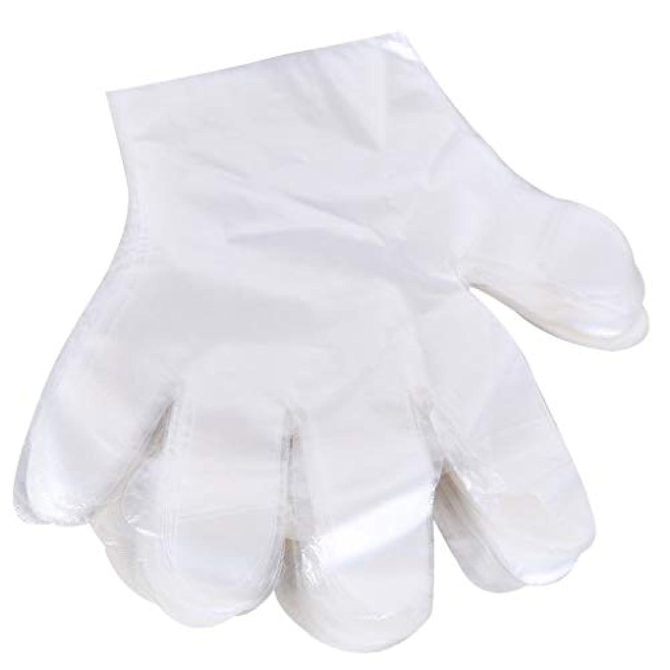 世界の窓平等月面1000 使い捨て手袋、ケータリングヘアマスク食品ロブスター厚い透明プラスチックpeフィルム手袋透明カバー YANW