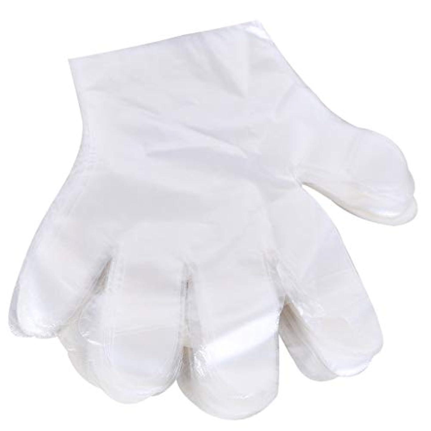 困惑したマエストロ虐待1000 使い捨て手袋、ケータリングヘアマスク食品ロブスター厚い透明プラスチックpeフィルム手袋透明カバー YANW