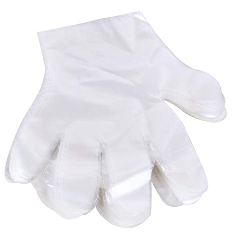 器具デマンドせがむ1000 使い捨て手袋、ケータリングヘアマスク食品ロブスター厚い透明プラスチックpeフィルム手袋透明カバー YANW