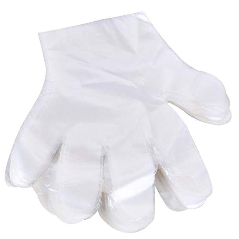 1000 使い捨て手袋、ケータリングヘアマスク食品ロブスター厚い透明プラスチックpeフィルム手袋透明カバー YANW