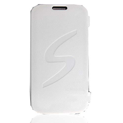 GALAXY S4 ケース 白 手帳型 フリップ 衝撃 シリコン 薄型 TPU スリム ソフト カバー グリップ 仕事 アウトドア 対応: ギャラクシーS4 / SC-04E / スマホ/SIMフリー ホワイト
