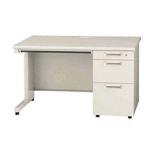 オフィス (デスク 机) 組立設置付 片袖机 PLUSスチールデスク 1200*700 JSシリーズ JS-127D-3 WH LGY ホワイトが人気 プラス片袖デスク 事務机 日本製 ホワイト 364846