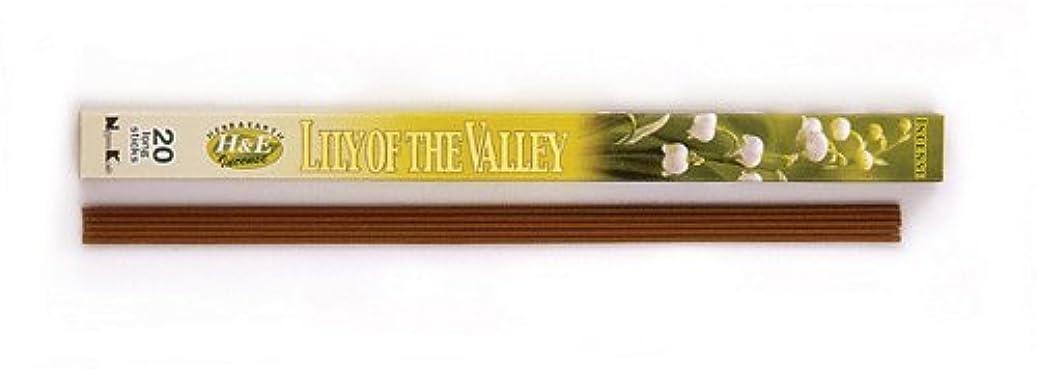 郡マージンバランスのとれたHERB&EARTH Incense LILY OF THE VALLEY スズラン スティック 【お香】
